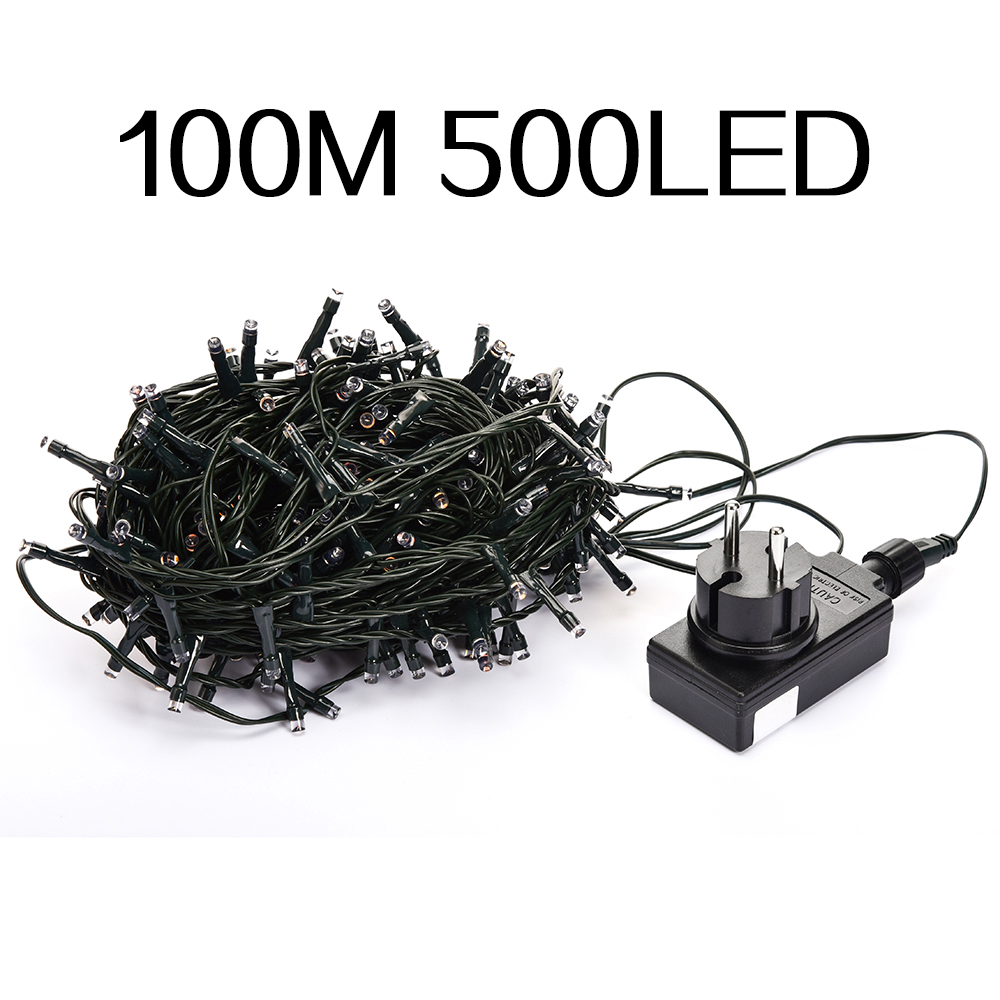 Low Voltage DC24V Waterproof Fairy String Lamp 100M 500Led for Christmas Celebration Occasions Decorations 4Color Free Shipping<br>