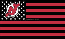 NHL NEW JERSEY DEVILS Flag with stripe and star Banner  3x5 FT 150X90CM Flag100D Polyester flag 1123, free shipping