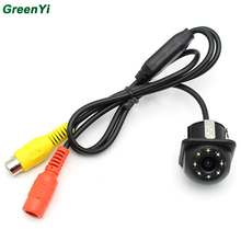 GreenYi CCD HD Car Rear View Camera 140 Degree Wide Angle Real Waterproof 8 LED Night Vision Parking Reversing Camera Assistance