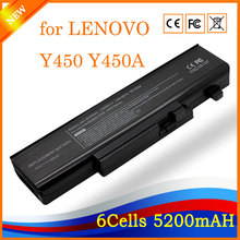 5200mAh 6cells Laptop battery for LENOVO IdeaPad Y450 Y450A Y450G Y550 Y550A Y550P 55Y2054 L08L6D13 L08O6D13 L08S6D13(China)