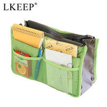 Portable Canvas Travel Bags Make Up Organizer Bag for Women Men Casual Multifunctional Cosmetic Makeup Toiletry Storage Handbag(China)