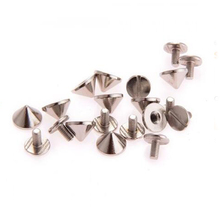 10pcs 9.5x6mm Gun Bullet Studs And Spikes For Clothe Punk Garment Rivets Cone Studs DIY Garment Rivets For Leather