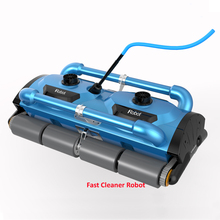 Commercial Use Robotic Automatic pool cleaner Icleaner-200D with 40m Cable For Big Pool Size( At least 1000m2) With Caddy cart(China)