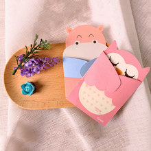 1 pcs Embrace of love Cartoon animal small card with envelope kawaii message birthday greeting cards holiday Universal kids gift