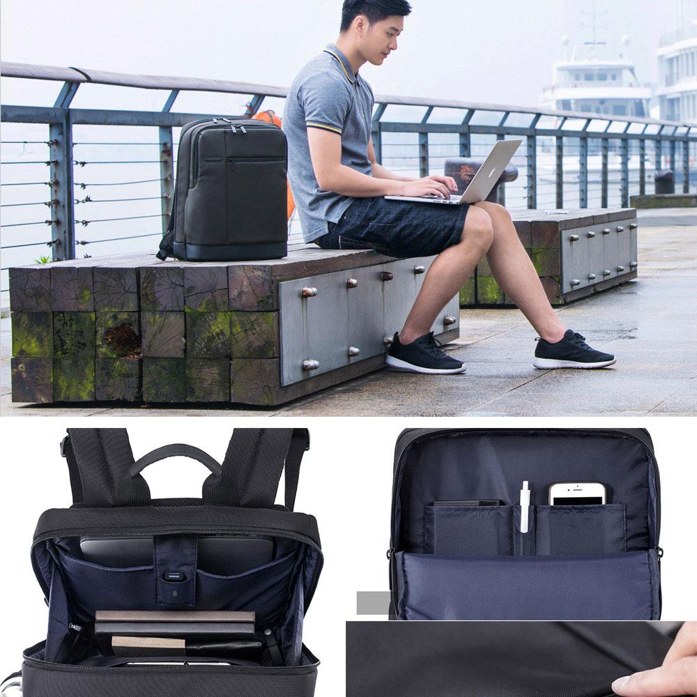 Original Xiaomi Backpack Classic Business Backpacks 17L Capacity Students  Laptop  Men Women Bag  For 15-inch Laptop OK (3)
