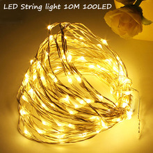5M 50 LED 3XAA Battery Operated LED String Lights for Xmas Garland Party Wedding Decoration Christmas Flasher Fairy Lights