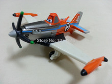 Disney Pixar Planes No.7 Supercharged Dusty Crophopper Metal Diecast Toy Plane 1:55 Loose New In Stock & Free Shipping(China)