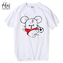 HanHent Mouse Printed Men's T-shirts Cotton Short Sleeve Tee shirts Cute Cartoon 12 Zodiacs Series Creative Animals T shirt Boys(China)