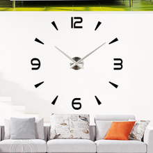 Home Decorations DIY Analog 3D Mirror Surface Big Wall Clock Modern Design Large Decorative Designer Wall Clock Watch Wall Stick
