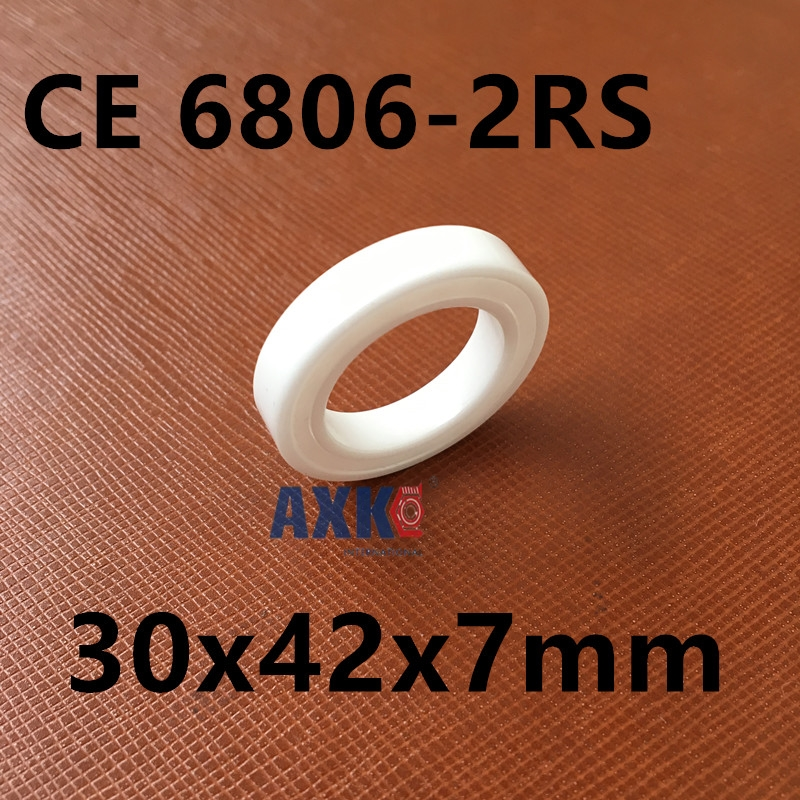 Free shipping 6806-2RS full ZrO2 ceramic ball bearing 30x42x7mm 61806-2RS 6806 61806<br>