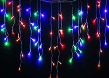 Decoration 3.5M icicle Christmas LED String Fairy Light Bulb Wedding Light Garland Birthday Party Garden Curtain Decor