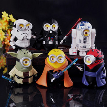 6 style/Set Star Wars Despicable Minions Small yellow people Gift best gift Decorate toy Action Figures Model - Shop2927021 Store store