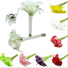 12pcs/Pack Calla Lily Real Touch Multi Colors Decorative Flower Artificial Flower Wedding Party Event Decorations Flower