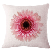 Practical Boutique 18 Inch Lovely Fresh Style Home Textile Pink Daisy Patterned Livingroom Bedroom Decorative Pillow Case Cover