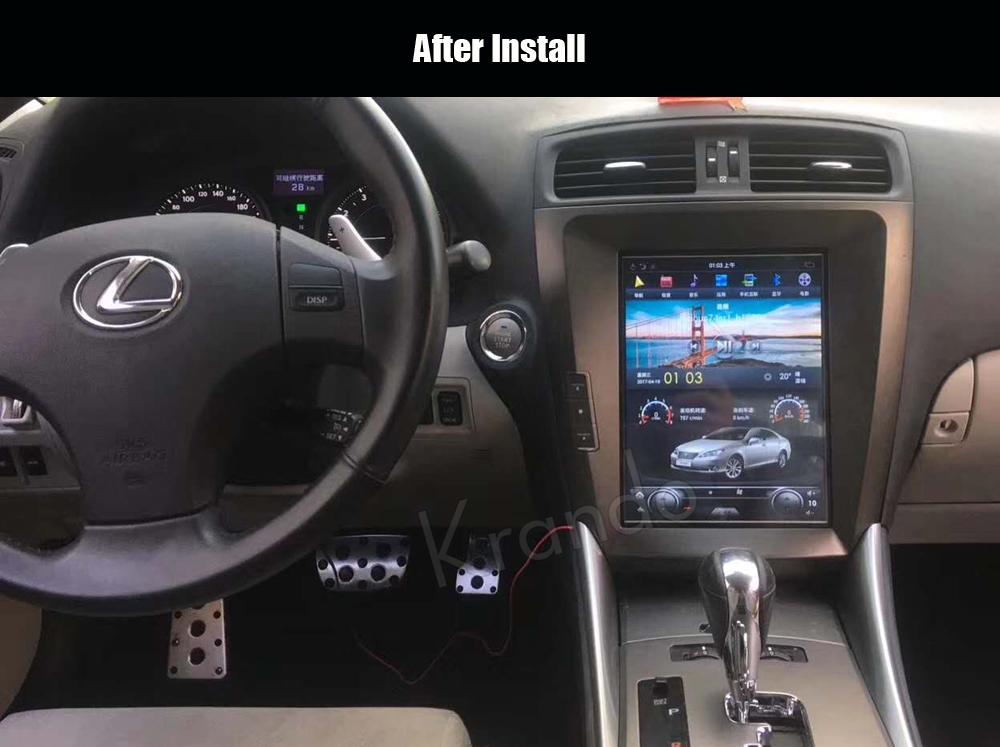 Krando Lexus is250 Vertical screen android car radio gps navigation system tesla model (1)