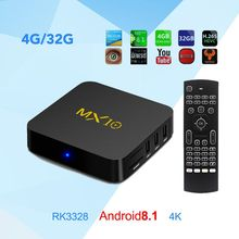 Buy MX10 4GB RAM 32GB ROM Android 8.1 TV Box HDMI3.0 RK3328 Quad Core 2.4Ghz WIFI BT4.0 Set-Top BOX 18.0 Smart 4K Media Player for $22.19 in AliExpress store