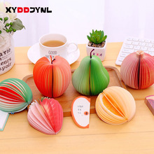 1PC Fruit Scrapbooking Note Memo Pads Portable Scratch Paper Notepads Post Sticky DIY Apple Pear Shape Convenience Stickers(China)