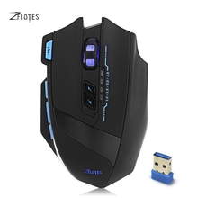 9 Keys Optical Mouse Wireless 2.4GHz 2500DPI Adjustable Gamer Mice with USB 3.0 Receiver USB Cable for Laptop Desktop