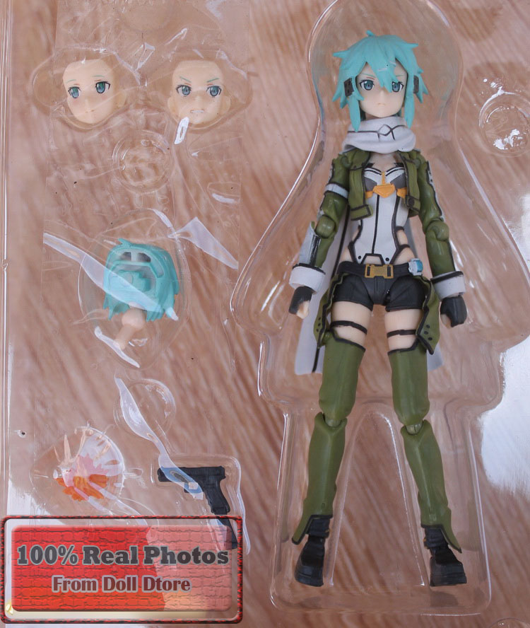 15CM Japanese anime Figma 241 GGO Sinon Action Figure SAO Brand Anime Sword Art Online 2 Model Toy Gift<br><br>Aliexpress