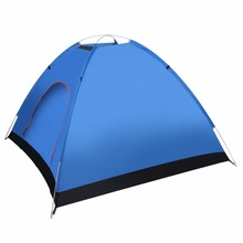 3-4 Person Quick Automatic Pop Up Opening Beach Sun Shade Shelter Outdoor Camping Fishing Hiking Family Tent Blue New(China)