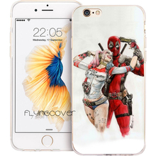 Coque Harley Quinn Deadpool Clear Soft TPU Silicone Phone Cover for iPhone X 7 8 Plus 5S 5 SE 6 6S Plus 4S iPod Touch 6 5 Case.(China)