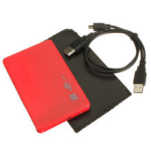 "SATA USB 2.0 SATA 2.5"" HD HDD HARD DISK DRIVE ENCLOSURE EXTERNAL CASE BOX red"
