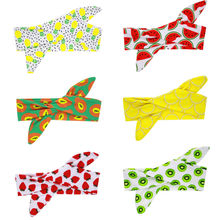 1PC Cute Infant Fruit Print Headband Baby Girl Hairband DIY Soft Headwrap Children Elastic Hair Accessories