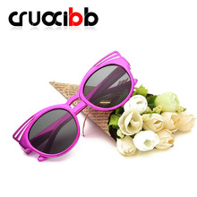 CRUOXIBB Hot Cute Cat Eye Children kids HD Sunglasses Summer Girls Boys Sun Glasses Candy Color Baby Goggles Oculos Anti-UV400