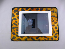 Super large 350x25x30mm rubber mouse pad computer game tablet mouse pad with edge locking leopard print personality mouse pad
