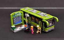 Artificial car model puzzle blocks toy bus model assembly for bus luxury bus