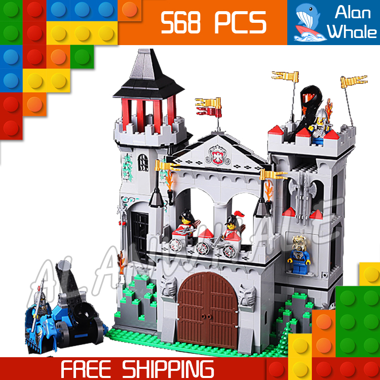 568pcs The Eagle Castle Medieval Lion Knights Kingdoms Tower Model Building Blocks Kit Bricks Children Toys Compatible With Lego<br>