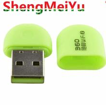 Mini 360 Portable USB Wifi Adapter Pocket Network Wireless Router 2nd Soft AP Green ANG