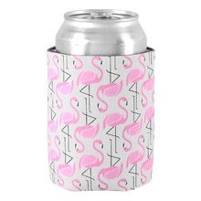 Pink Painted Flamingo Pattern Can Cooler Wonderful Vintage Design Drink Insulator for Kids Family Members Favors Home Decoration