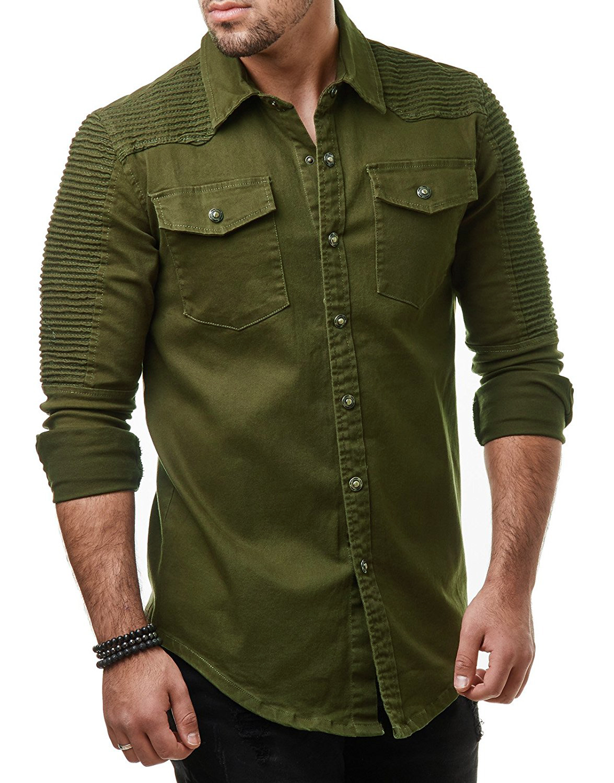 Brand 2018 Fashion Jeans Shirt Long Sleeves Washable Cowboy Shirt