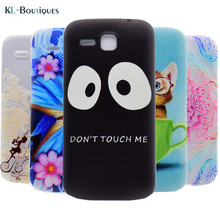 Clear Phone Cases sFor Coque Huawei Y600 Case Soft Silicone Back Cover For Huawei Ascend Y600 Y600-U20 Hero 3 Black Eyes Gift(China)