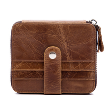 Buy Genuine Cowhide Leather Wallet RFID Blocking Protective Purse Multi Pocket Credit Card Holder Coin Change Money Wallet 1026 for $9.99 in AliExpress store