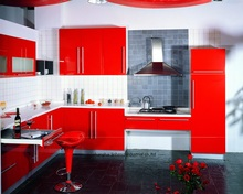 High gloss/lacquer kitchen cabinet mordern(LH-LA094)(China)