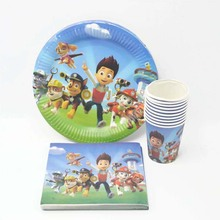 40pcs/set patrol puppy Baby Favor Boy Birthday Party Supplies Decoration Plastic Plate/Cup/Napkin Baby Shower Decoration09(China)