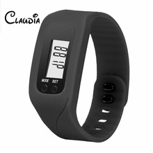Special CLAUDIA Digital LCD Pedometer Run Step Walking Distance Calorie Counter Watch Bracelet FreeShipping Relogio Masculino