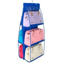 2017 6 Pocket Shelf Hanging Organizer Storage Bag Rack Holder Bags Shoe Large Capacity PVC Durable Free Shipping R031(China)