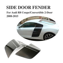 Carbon Fiber Side Door Blade Fender for Audi R8 V8 V10 Coupe / Convertible 2-Door 2008-2015 Car Accessories(China)