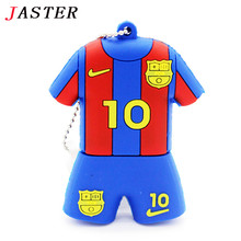JASTER sports fashion cool jersey Messi pen drive football series usb flash drive 4GB 8GB 16GB 32GB cartoon chains gift