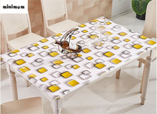 Simple table cloth Soft glass PVC tablecloth waterproof oil-proof Table mats Anti-aging High temperature Coffee mats