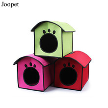Free shipping pink red green dog house puppy pet dog cat bed house doggy portable and foldable bed for chihuahua teddy pet bed