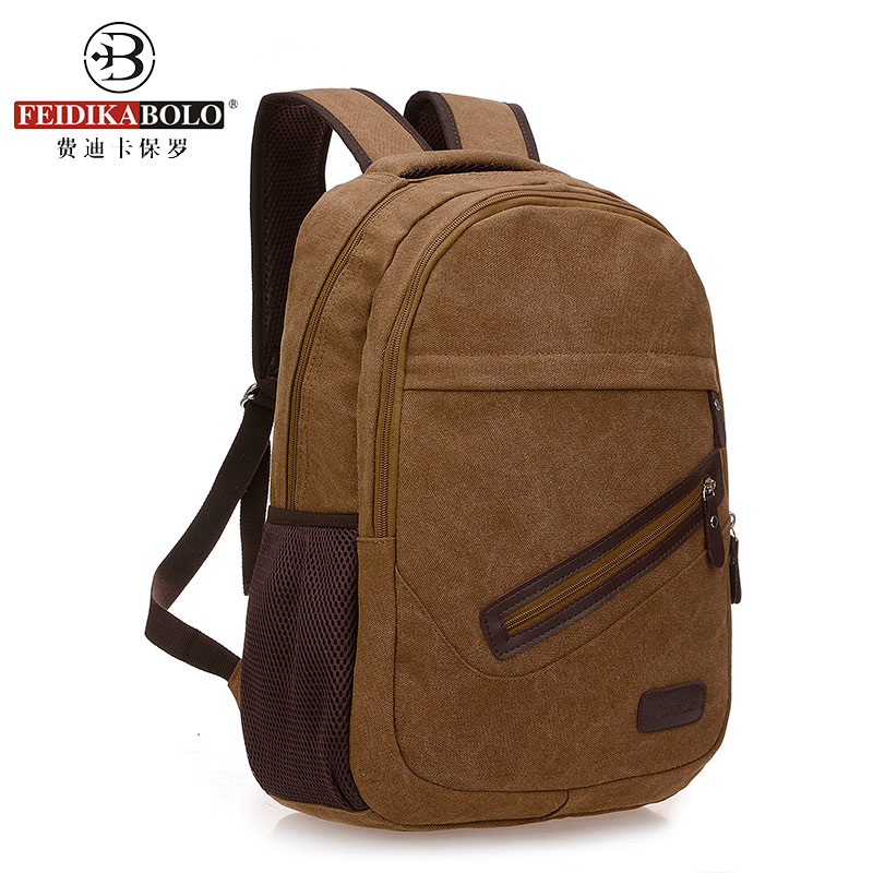Canvas Men Backpack College School Bookbag Knapsack Travel Back Pack Sac A Dos Homme Mochila De Couro Masculina<br><br>Aliexpress