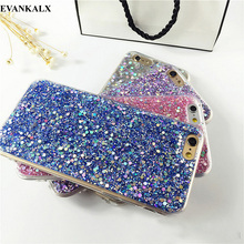 EVANKALX Pink Bling Glitter Case For iPhone 7 6 6s 8 X Fashion Clear Soft Full Edge Phone Back Cover For iPhone 6 6s 7 8 Plus(China)