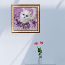 DIY 5D Diamond Embroidery Cute little Cat Painting Cross Stitch Home Decor