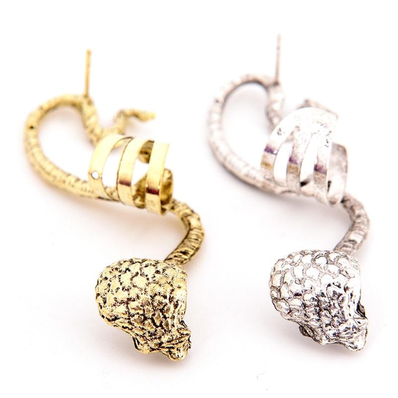 Punk Snake Ear Cuff S Shaped Zinc Alloy Earcuffs Unique Jewelry Accessories Animal Gifts Clip Earrings