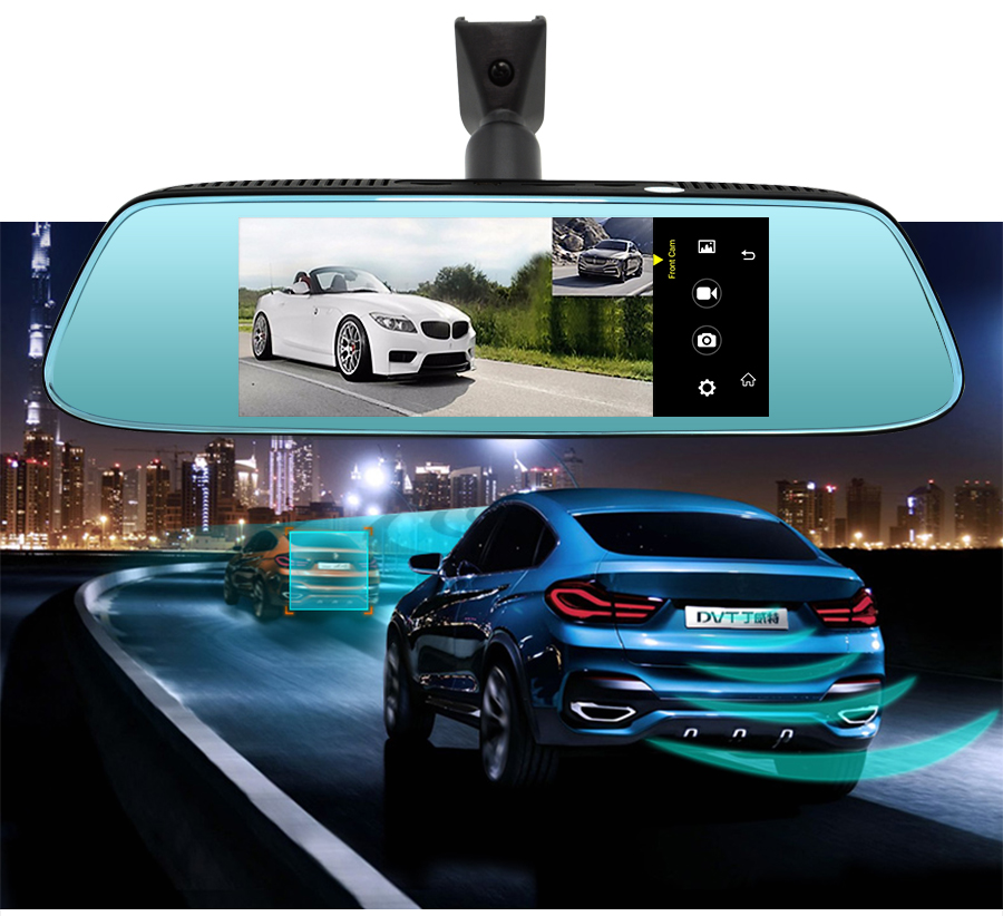"Junsun 8"" 4G Special Mirror Car DVR Camera Android 5.1 with GPS DVRs Automobile Video Recorder Rearview Mirror Camera Dash Cam 10"