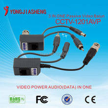 Freeshipping UTP VIdeo Balun with Video Audio Power, 3 in one CCTV BNC  Balun for CCTV Camera System